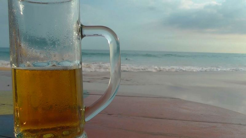 noch ein Lion-Bier in Sri Lanka